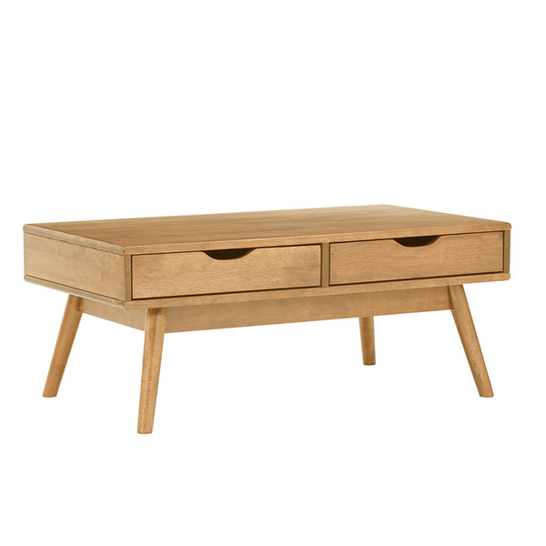 LAMAR Coffee Table with 2 Drawers 106cm - Natural