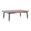 BINDER Coffee Table 120cm Acacia Solid Wood - Black & Taupe