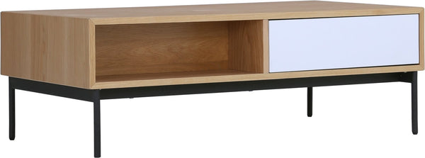 MILLER 120cm Rectangular Oak Veneer Coffee Table