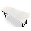 Morey Study Desk White and Black