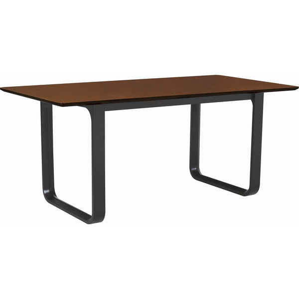 Ulmer Dining Table - 180cm - Black Ash + Walnut