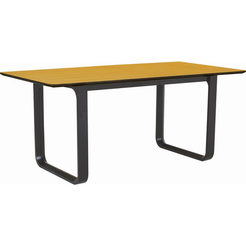 Ulmer Dining Table - 180cm - Black Ash + Oak