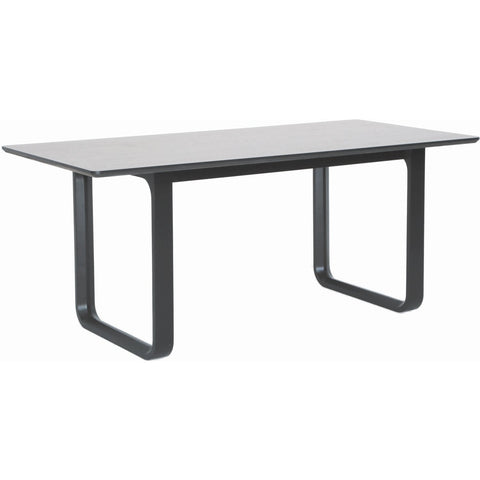 Ulmer Dining Table - 180cm - Black Ash + White Grey