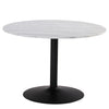 MARMOR Marble Dining Table 110cm - White & Black