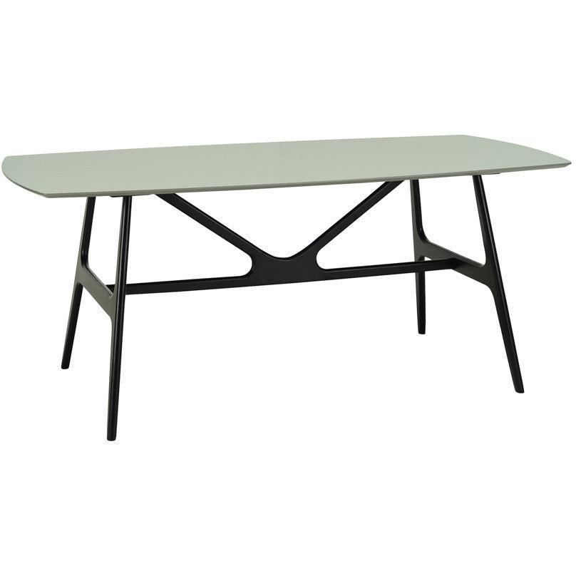 Fila Dining Table - 180cm - Black Ash + Grey