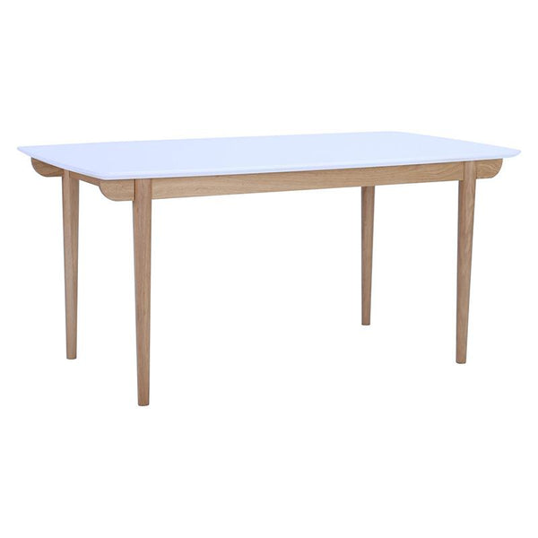 NAKULA 160cm White & Natural Dining Table