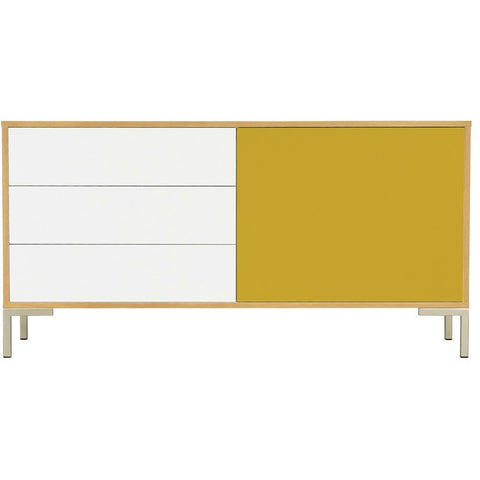 Randy White and Yellow Sideboard