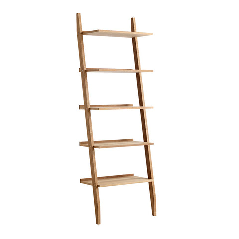 RIVA Leaning Bookcase - Natural Oak