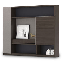 Carter Display Cabinet 2.4M - Coffee & Grey