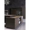 Carter Executive Office Desk + Right Return - 220cm - Coffee + Charcoal