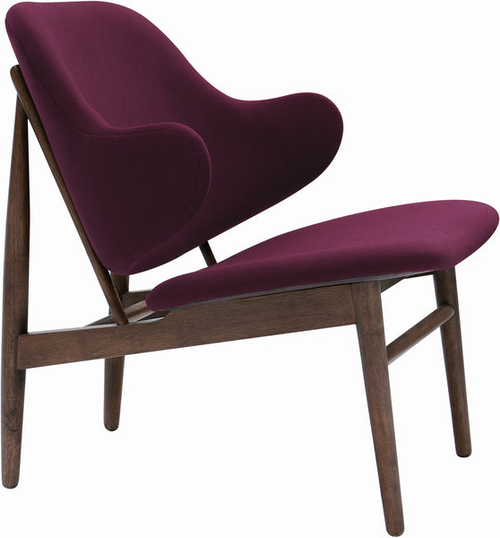 Veronic Lounge Chair Ruby Colour Fabric