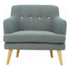 EXELERO Single Seater Sofa - Battleship Grey