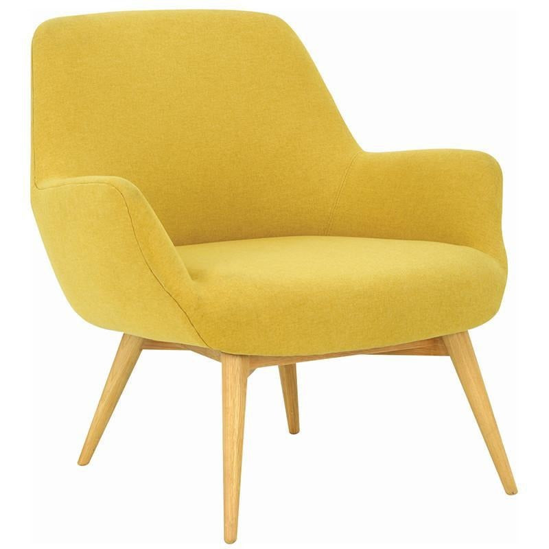 Berlingo Lounge Chair Yellow Royaal Range Modern Furniture