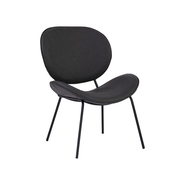 ORMER Lounge Chair - Titanium & Black