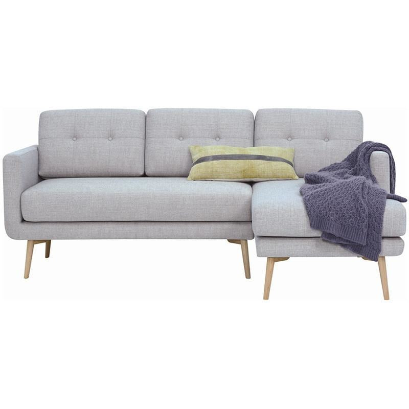 Modern furniture stream 3 seater sofa with right chaise for 3 seater chaise sofa