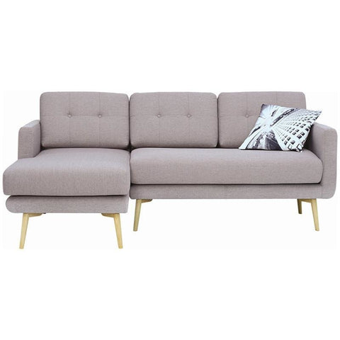 Stream 3 Seater Sofa with Left Chaise - Oak Brown - Royaal Range