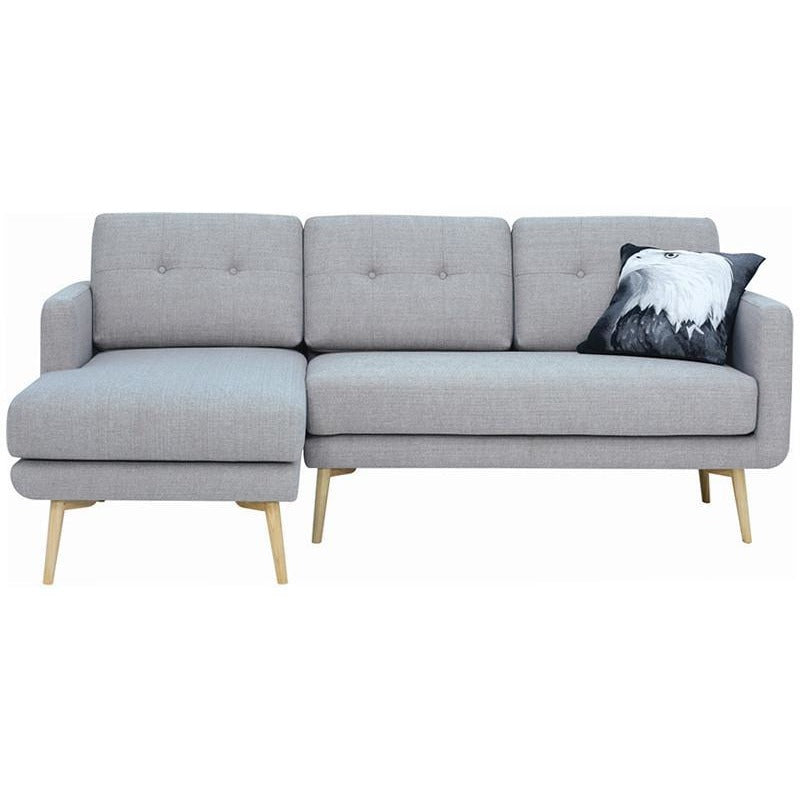 Modern furniture stream 3 seater sofa with left chaise for 3 seat sofa with chaise