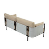 TREDIA 3 Seater Sofa - Tortilla/White Colour