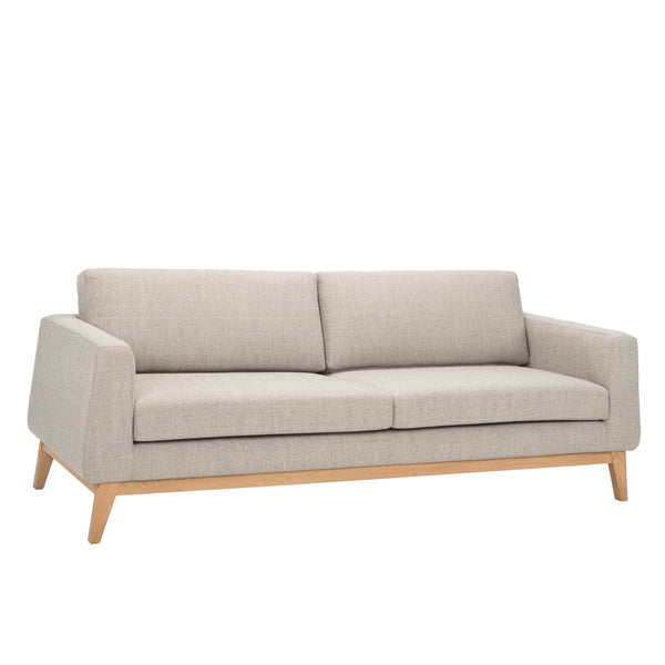 CRIDER 3 Seater Sofa - Timberwolf & Natural