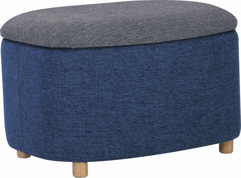 DAYTONA Ottoman with Storage Small - Midnight Blue