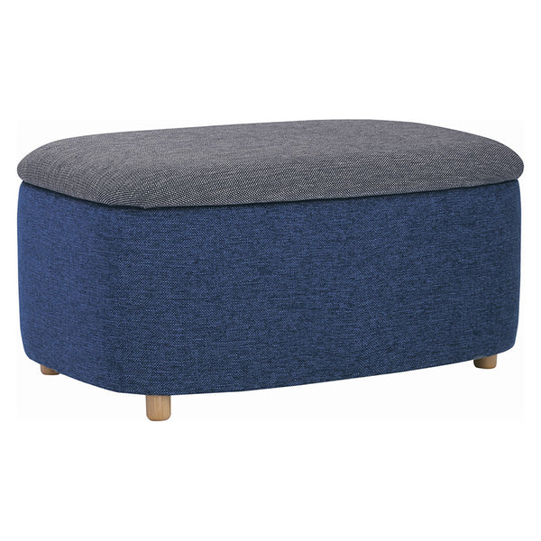 DAYTONA Ottoman with Storage 91cm - Midnight Blue