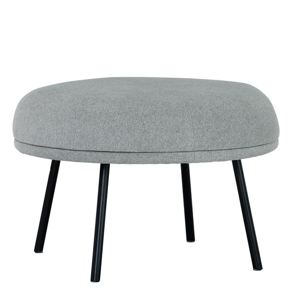 JUSTY Footstool/Ottoman 63.5cm - Pale SIlver