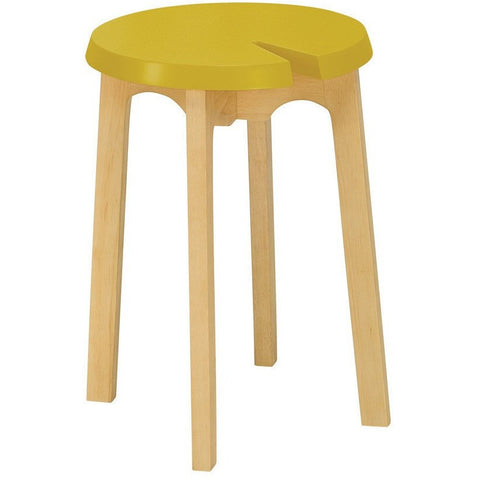 Chevis Stool in Olive Yellow