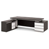 Xander Executive Office Desk with Left Return 2.49M - Black & White