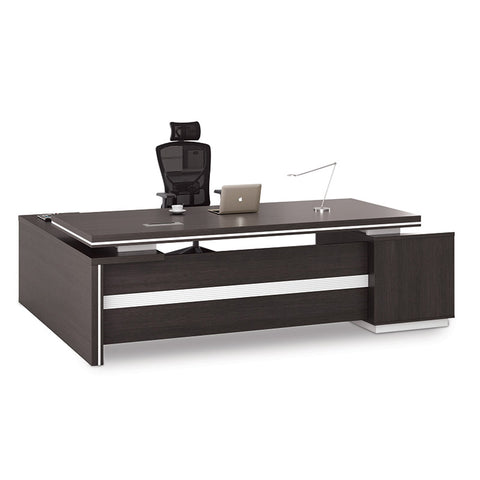 Xander Executive Office Desk with Right Return 2.49M - Black & White