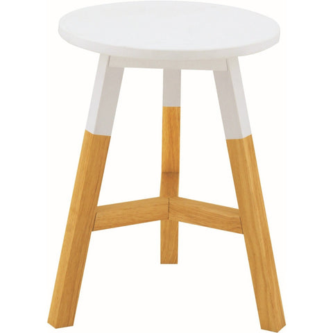 Reba Stool - Oak + White Top