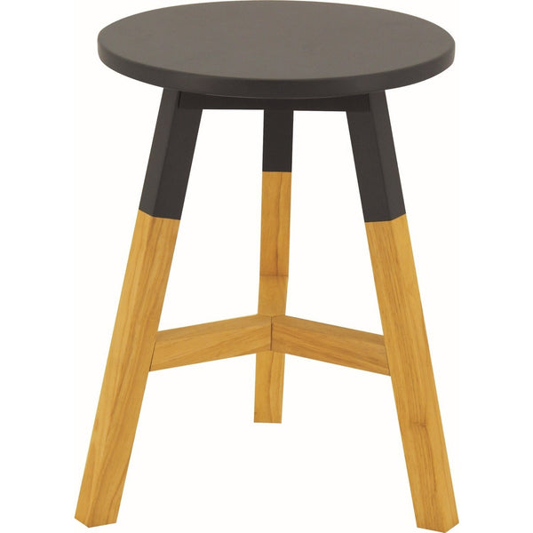Reba Stool - Oak + Graphite Grey