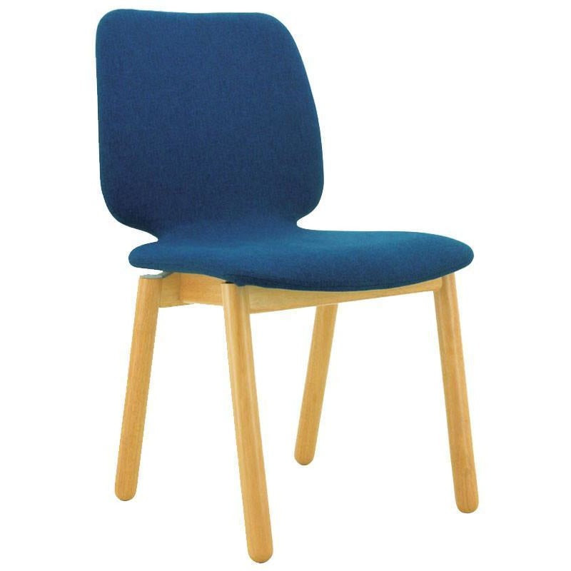 Missie Dining Chair - Oak + Midnight Blue