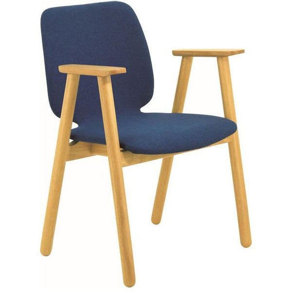 Missie Arm Chair - Oak + Midnight Blue