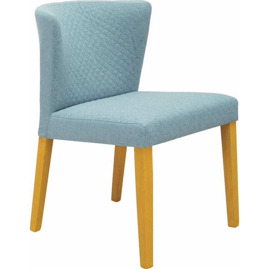 Rhoda Dining Chair - Oak + Aquamarine