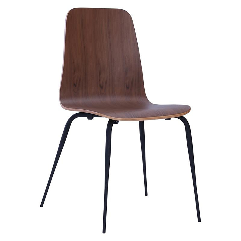 AVA Back Bar Stool - Walnut