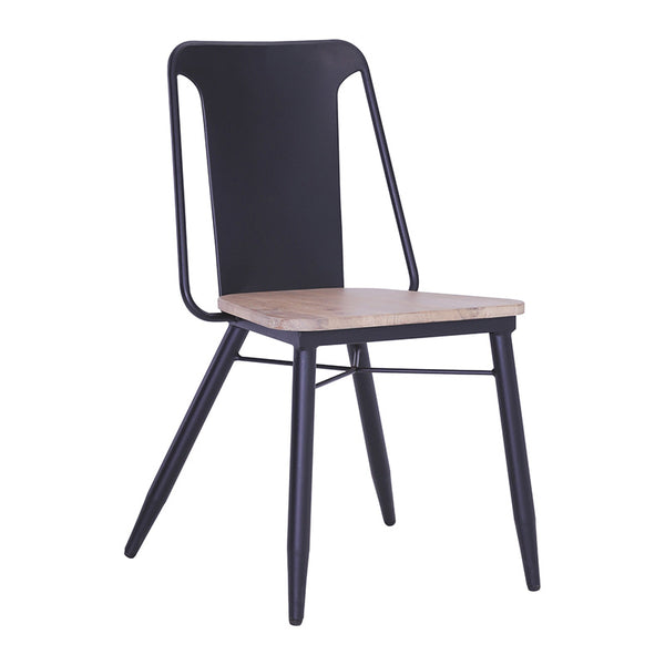 BINDER Dining Chair Solid Wood - Taupe