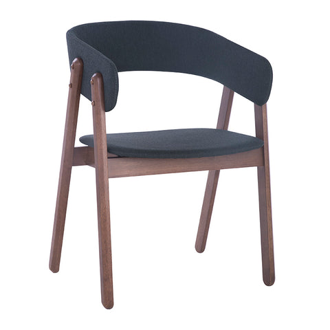 GOLDY Dining Chair - Walnut/Dark Grey