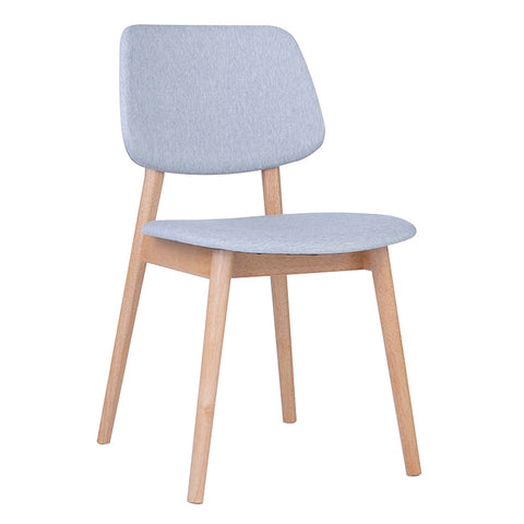 MERCY Dining Chair - Natural/Light Grey