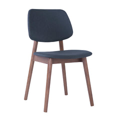 MERCY Dining Chair - Walnut/Dark Grey