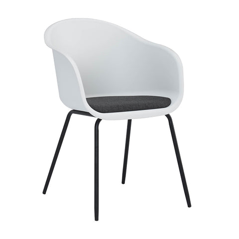 COLLEEN Dining Chair - White & Black
