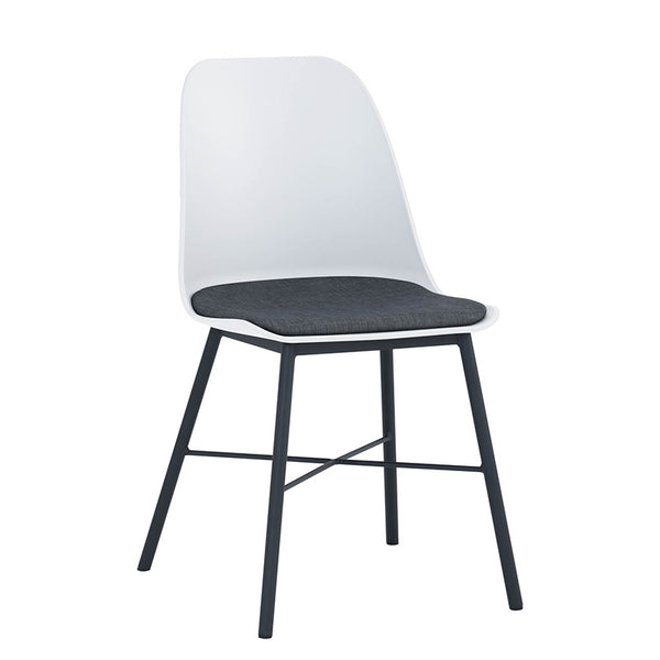 LAXMI Dining Chair - White & Black