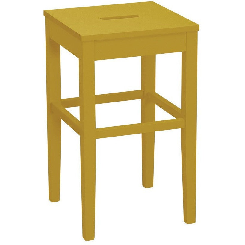 Dama Counter Stool in Olive Yellow