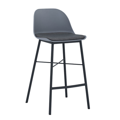 LAXMI Counter Stool - Grey & Black