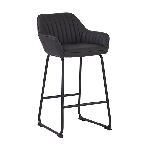 EKON Counter Stool - Brunette & Black