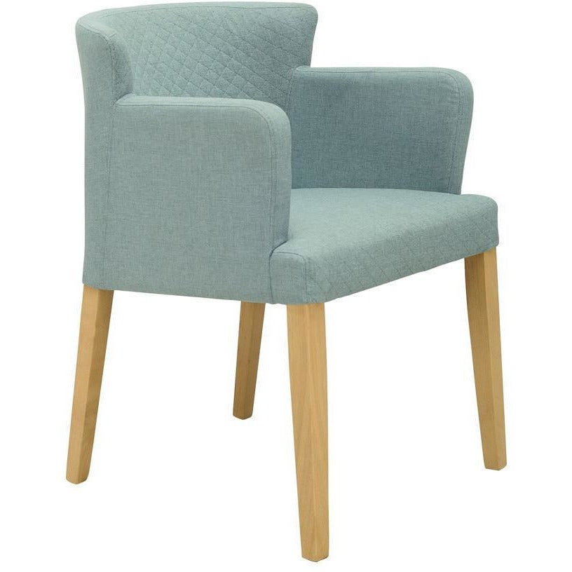 Rhoda Dining Armchair - Oak + Aquamarine