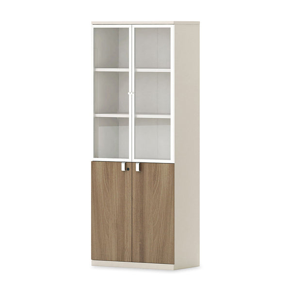 Wilder Display Cabinet 2 Doors 80cm - Light Walnut