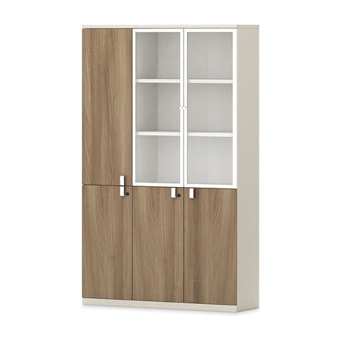 Wilder Display Cabinet 3 Doors 1.2M - Light Walnut