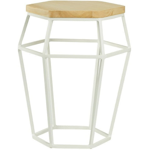 Ford Occasional Table-Stool in Oak and White