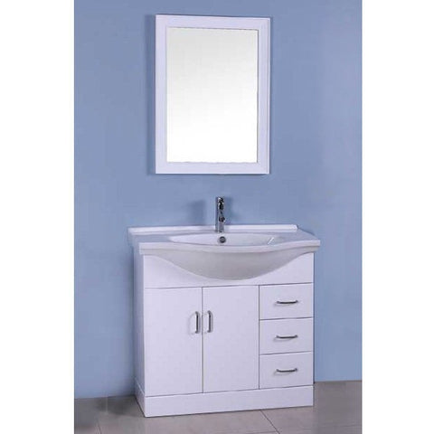 Single White Bathroom Vanity