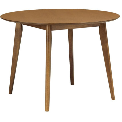 ARTHUR Round Dining Table 1.05M - Walnut